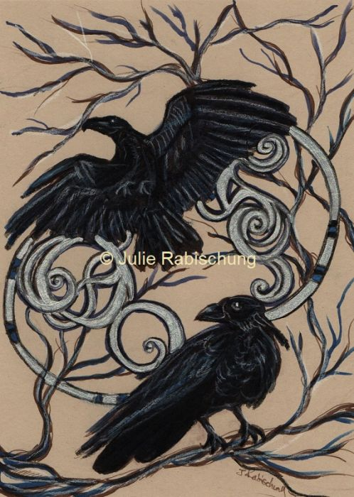 """Huginn and Muninn"" by Julie Rabischung"